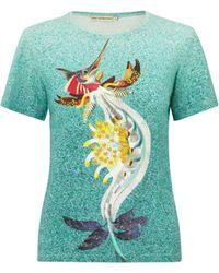 Mary Katrantzou Fitted T-Shirt Marlin - Lyst