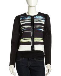 Sachin & Babi Estrella Stripe-Print Scuba Jacket - Lyst
