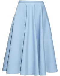 Tomas Maier Denim Skirt - Lyst