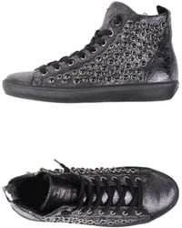 Leather Crown High-Tops & Trainers silver - Lyst