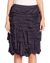 Comme des Garçons Tiered Ruffle Skirt blue - Lyst