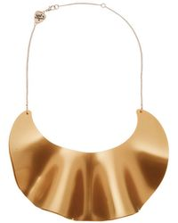Tatty Devine - Ruffle Waves Bib Necklace - Lyst