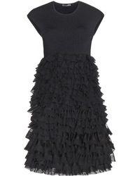 Alexander McQueen Stretch Jersey Ruffle Dress - Lyst