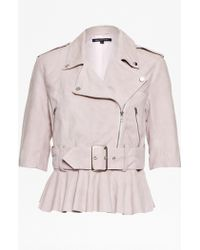 French Connection Desert Suede Belted Jacket - Lyst