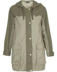 Topshop Colourblock Parka Jacket  - Lyst