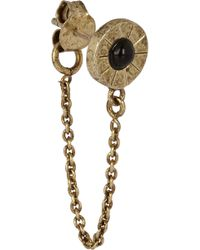 Pamela Love Iris Brass-plated Onyx Stud and Chain Earrings - Lyst