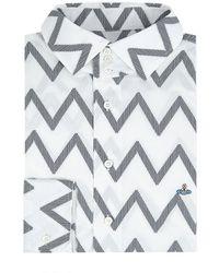 Vivienne Westwood Zigzag Three Button Shirt - Lyst