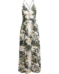 H&M Long Chiffon Dress - Lyst