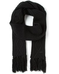Diesel Cable Knit Scarf - Lyst