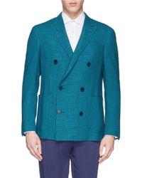 Canali Wool-Silk-Linen Blazer - Lyst