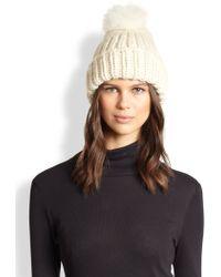Eugenia Kim Rain Wool  Fox Fur Hand-knit Hat - Lyst