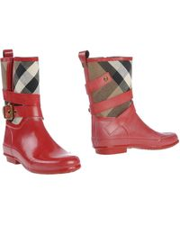 Burberry London Ankle Boots - Lyst