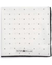 Peter Millar Dot Grid Pocket Square - Lyst
