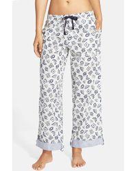 Jane & Bleecker New York - Printed Drawstring Lounge Pants - Lyst