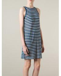 T By Alexander Wang Striped Tank Dress - Lyst