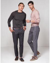 Dolce & Gabbana | Grandad Sweater In Striped Silk | Lyst