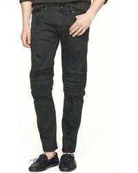 Ralph Lauren Black Label Piston Moto Jeans  Slim Fit - Lyst