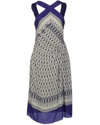 Alberta Ferretti Kneelength Dress - Lyst
