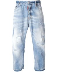 DSquared2 Cropped Loose Fit Jeans - Lyst