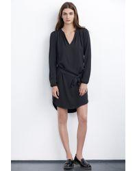 Velvet By Graham & Spencer Demetria Crepe Shirt Dress gray - Lyst