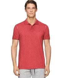Calvin Klein Jeans Modern Fit Garment Dye Pique Polo Shirt - Lyst