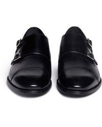 Artigiano - Leather Monk Strap Shoes - Lyst
