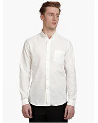AMI Men'S White Button Down Shirt white - Lyst