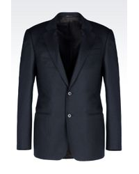 Armani Jacket In Wool And Silk - Lyst