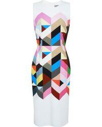 Preen By Thornton Bregazzi Issy Printed Crepe Dress - Lyst