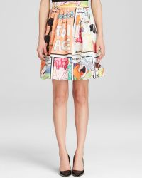 Moschino Cheap & Chic Skirt - Comic Print Fit And Flare - Lyst