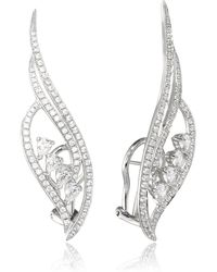 AS29   Flow Small Four-line Earrings With Pear Shaped Diamonds   Lyst