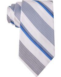 Calvin Klein Bianco Multi-Stripe Slim Tie - Lyst