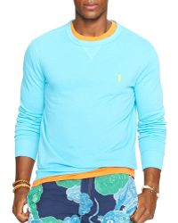 Ralph Lauren Polo Terry Crewneck Pullover - Lyst