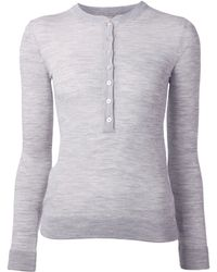 Michael Kors Featherweight Cashmere Henley - Lyst