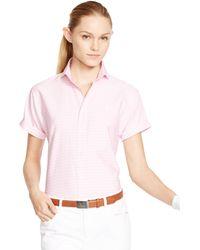 Ralph Lauren Golf Striped Short-Sleeved Shirt - Lyst