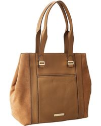Vince Camuto Brown Abby Tote - Lyst