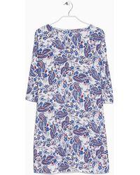 Mango Paisley Print Dress - Lyst
