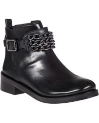 Tory Burch Bloomfield Bootie Black Leather - Lyst