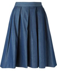 Blumarine Pleated Skirt - Lyst