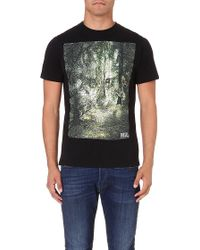Diesel T-ebo Cotton-jersey T-shirt Black - Lyst