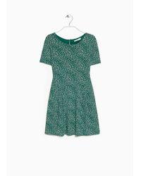 Mango Printed Dress - Lyst