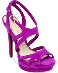Jessica Simpson Presslie Strappy Platform Sandals - Lyst