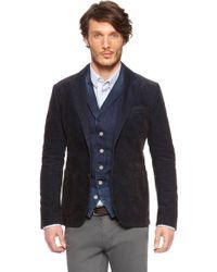 Boss Orange Bodan  Slim Fit Cotton Blend Corduroy Jacket - Lyst