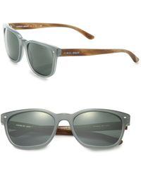 Giorgio Armani 56Mm Acetate Square Sunglasses gray - Lyst