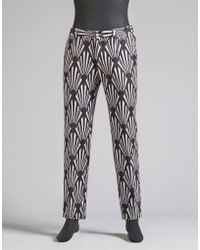Dolce & Gabbana | Trousers In Printed Basketweave | Lyst