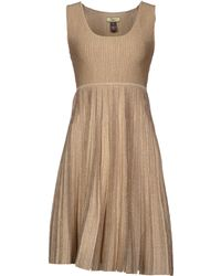 Issa Beige Kneelength Dress - Lyst