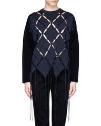 Proenza Schouler Open Argyle Tassel Sweater - Lyst