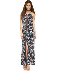 Ella Moss Floral-Print Sleeveless Maxi Dress blue - Lyst