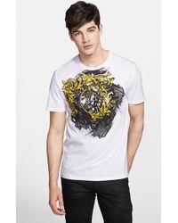 Versace 'Baroque Mirror' Medusa Graphic T-Shirt white - Lyst
