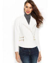 Inc International Concepts Cotton Asymmetrical Moto Jacket - Lyst